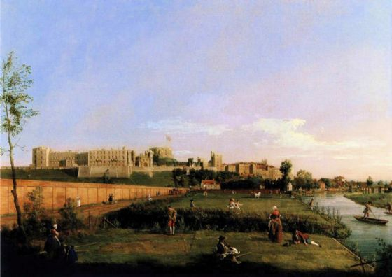 Canaletto, Giovanni Antonio Canal: Windsor Castle. Fine Art Print/Poster. Sizes: A4/A3/A2/A1 (003455)